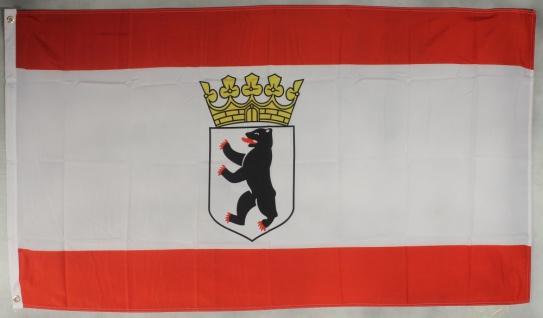 Berlin mit Krone Dienst Flagge Großformat 250 x 150 cm wetterfest