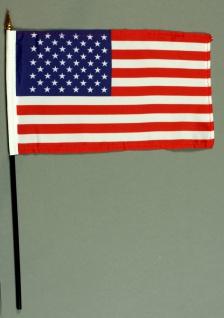 Tischflagge USA Amerikaflagge 15x25 cm BASIC optional mit Tischflaggenständer