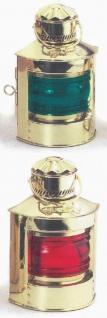 Schiffslampe Messing Positionslampe Set 2 Stück rot und grün 24 cm Höhe schwe...