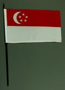 Tischflagge Singapur 25x15 cm BASIC optional mit Tischflaggenständer