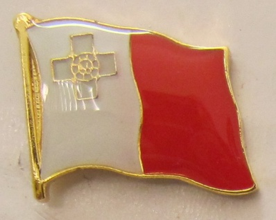 Pin Anstecker Flagge Fahne Malta Nationalflagge