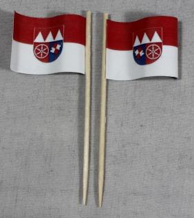 Party-Picker Flagge Unterfranken Papierfähnchen in Spitzenqualität 50 Stück B...