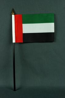 Kleine Tischflagge Vereinigte Arabische Emirate VAE UAE 10x15 cm optional mit...