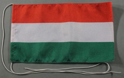 Tischflagge Ungarn 25x15 cm optional mit Holz- oder Chromständer Tischfahne T...