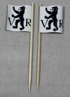 Party-Picker Flagge Appenzell Ausserhoden Kanton Schweiz Papierfähnchen in Sp...