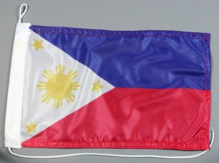 Bootsflagge : Philippinen 30x20 cm Motorradflagge