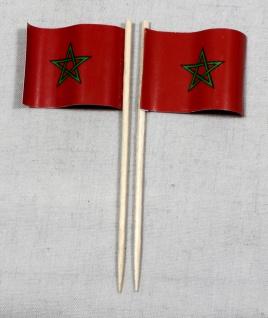Party-Picker Flagge Marokko Papierfähnchen in Spitzenqualität 50 Stück Beutel