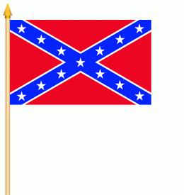 Stockflagge Südstaaten USA 30x45cm - Vorschau