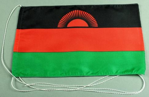 Tischflagge Malawi 25x15 cm optional mit Holz- oder Chromständer Tischfahne T...