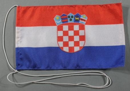 Tischflagge Kroatien 25x15 cm optional mit Holz- oder Chromständer Tischfahne...