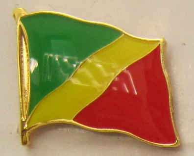 Kongo Brazzaville Pin Anstecker Flagge Fahne Nationalflagge
