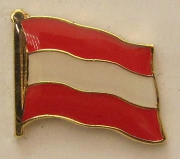 Pin Anstecker Flagge Fahne Oesterreich Österreich Nationalflagge