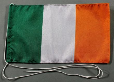 Tischflagge Irland 25x15 cm optional mit Holz- oder Chromständer Tischfahne T...