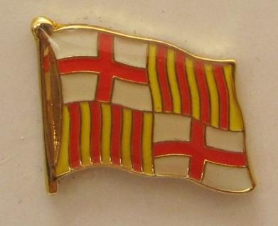 Pin Anstecker Flagge Fahne Barcelona Flaggenpin Button Badge Flaggen Clip Ans...