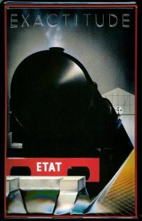 Blechschild Exactitude Dampflok Lokomotive Eisenbahn Schild Nostalgieschild