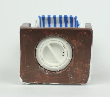 Urlaubskasse Spardose Spartopf Deko Strandkorb blau/weiß 14 cm maritim - Vorschau 4