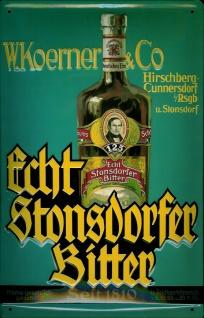 Blechschild Stonsdorfer Bitter Magenbitter retro Schild Werbeschild Nostalgie...