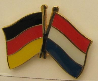 Niederlande / Deutschland Freundschafts Pin Anstecker Flagge Fahne Nationalfl...
