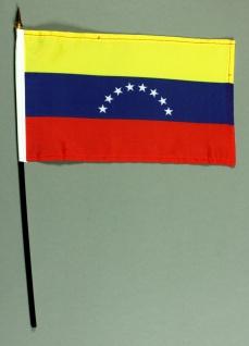 Tischflagge Venezuela 25x15 cm BASIC optional mit Tischflaggenständer