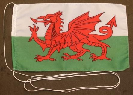 Tischflagge Wales 25x15 cm optional mit Holz- oder Chromständer Tischfahne Ti...