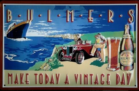 Blechschild Bulmers Cider Bier Vintage Day Oldtimer Auto Schiff Schild