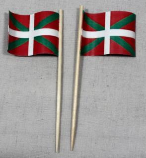 Party-Picker Flagge Baskenland Papierfähnchen in Spitzenqualität 50 Stück Beutel
