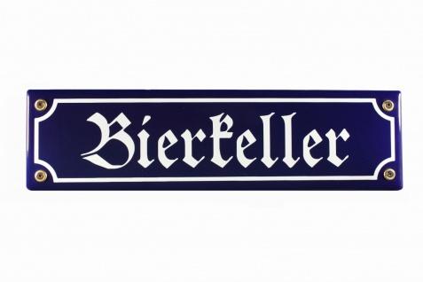 Strassenschild Bierkeller 30x8 cm Email Strassen Schild Emaille Kneipenschild