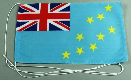 Tischflagge Tuvalu 25x15 cm optional mit Holz- oder Chromständer Tischfahne T...