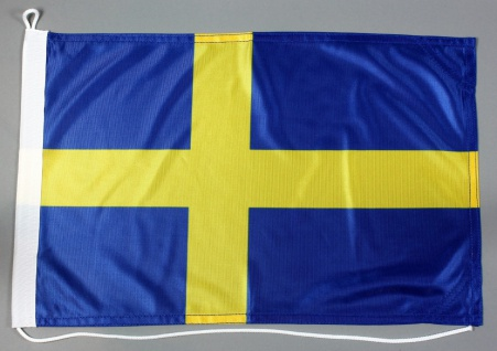 Bootsflagge Schweden 30x45 cm Motorradflagge Bootsfahne