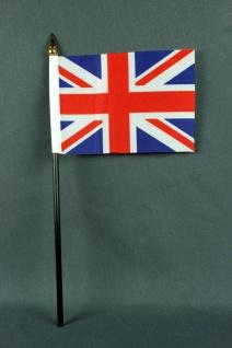 Kleine Tischflagge Großbritannien Union Jack 10x15 cm optional mit Tischfähnc...