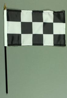 Tischflagge Zielflagge Ziel Flagge 15x25 cm BASIC optional mit Tischflaggenst...