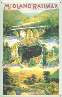 Blechschild Nostalgieschild Midland Railway England Eisenbahn