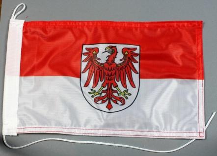 Bootsflagge : Brandenburg 30x20 cm Motorradflagge