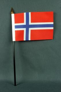 Kleine Tischflagge Norwegen 10x15 cm optional mit Tischfähnchenständer