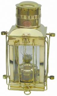 Schiffslampe Messing Cargo-Lampe 37 cm Höhe schwere Ausführung Petroleum