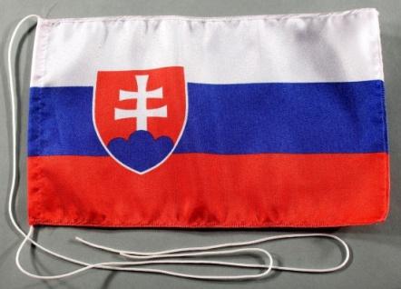 Tischflagge Slowakei 25x15 cm optional mit Holz- oder Chromständer Tischfahne...