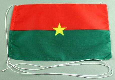 Tischflagge Burkina Faso 25x15 cm optional mit Holz- oder Chromständer Tischf...