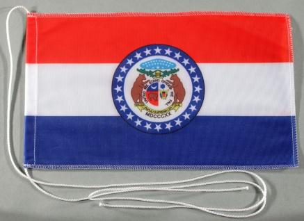 Tischflagge Missouri USA Bundesstaat US State 25x15 cm optional mit Holz- ode...