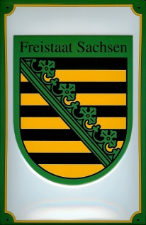 Blechschild Nostalgieschild Sachsen Freistaat Wappen Staatswappen Wappenschil...