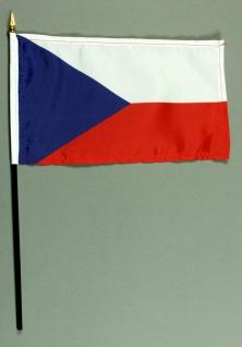 Tischflagge Tschechien 15x25 cm BASIC optional mit Tischflaggenständer