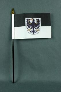 Kleine Tischflagge Ostpreussen Preußen 10x15 cm optional mit Tischfähnchenstä...