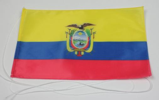 Tischflagge Ecuador 25x15 cm optional mit Holz- oder Chromständer Tischfahne ...