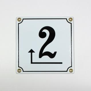 2 Pfeil links um die Ecke weiß Clarendon 14x14 cm sofort lieferbar Schild Ema...