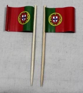 Party-Picker Flagge Portugal Papierfähnchen in Spitzenqualität 50 Stück Beutel