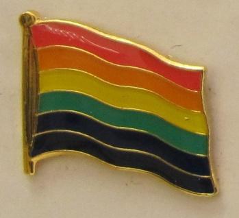 Pin Anstecker Flagge Fahne Regenbogen