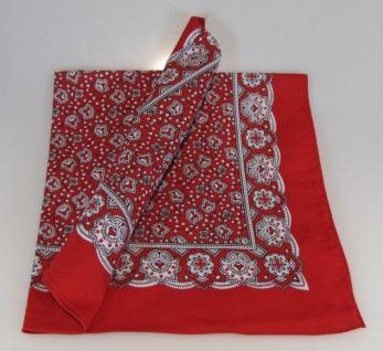 Vierecktuch Paisley rot 54x54 cm Halstuch - Schal