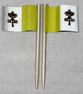 Party-Picker Flagge Vatikan Papst Papierfähnchen in Spitzenqualität 50 Stück ...