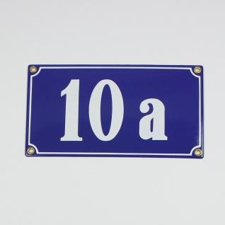 10a blau Clarendon 22x12 cm sofort lieferbar Schild Emaille 4-stellige Hausnu...