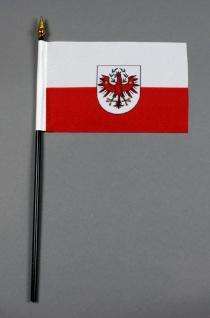 Kleine Tischflagge Tirol 10x15 cm optional mit Tischfähnchenständer