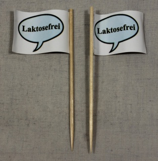 Party-Picker Flagge Laktosefrei Papierfähnchen in Spitzenqualität 50 Stück Be...